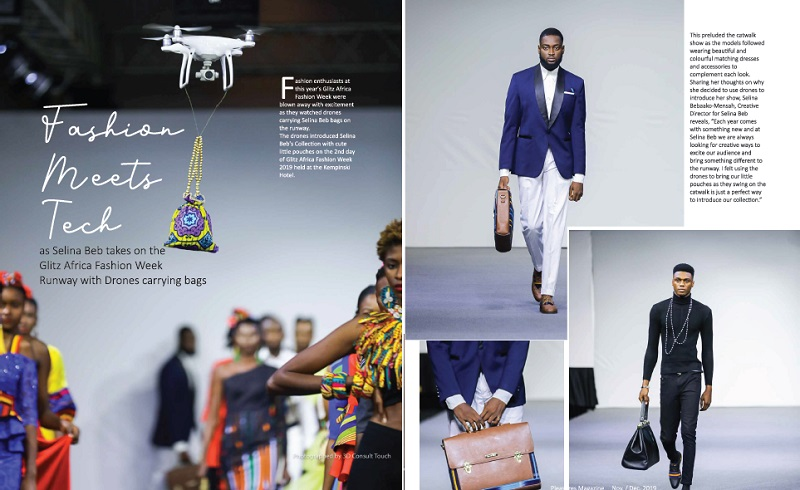 Fashion Meets Tech as Selina Beb takes on the Glitz Africa Fashion Week Runway with Drones carrying bags