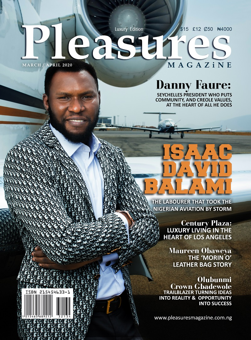 The Paradigm Shift, As Aircraft Engineer Isaac Balami Covers Pleasures Magazines March/April 2020 Issue linda ikejis blog