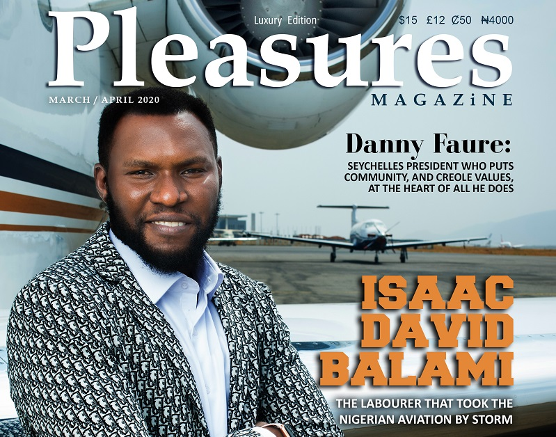 The 'Paradigm Shift', As Aircraft Engineer Isaac Balami Covers Pleasures Magazine's March/April 2020 Issue